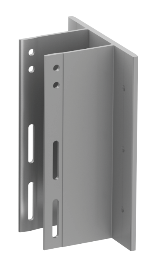 Alpha E Wall Brackets are designed to be fixed to concrete floor slabs.