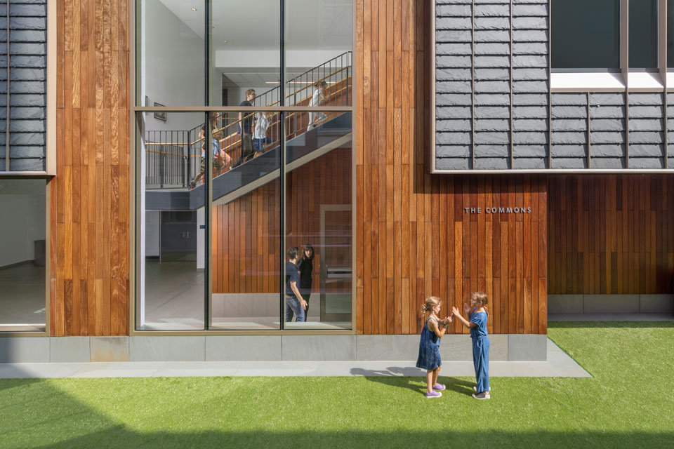 Roger Partners Trinity School Renovation ECO Cladding Slate IPE Wood Rainscreen Detail