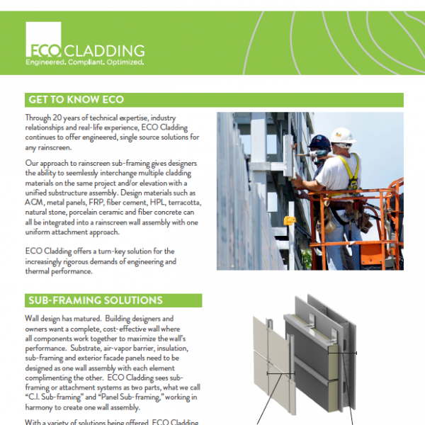 ECO Cladding Intro Brochure