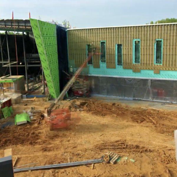 ECO Cladding Alpha Wall Brackets - Fairfield County Library Installation Time-lapse