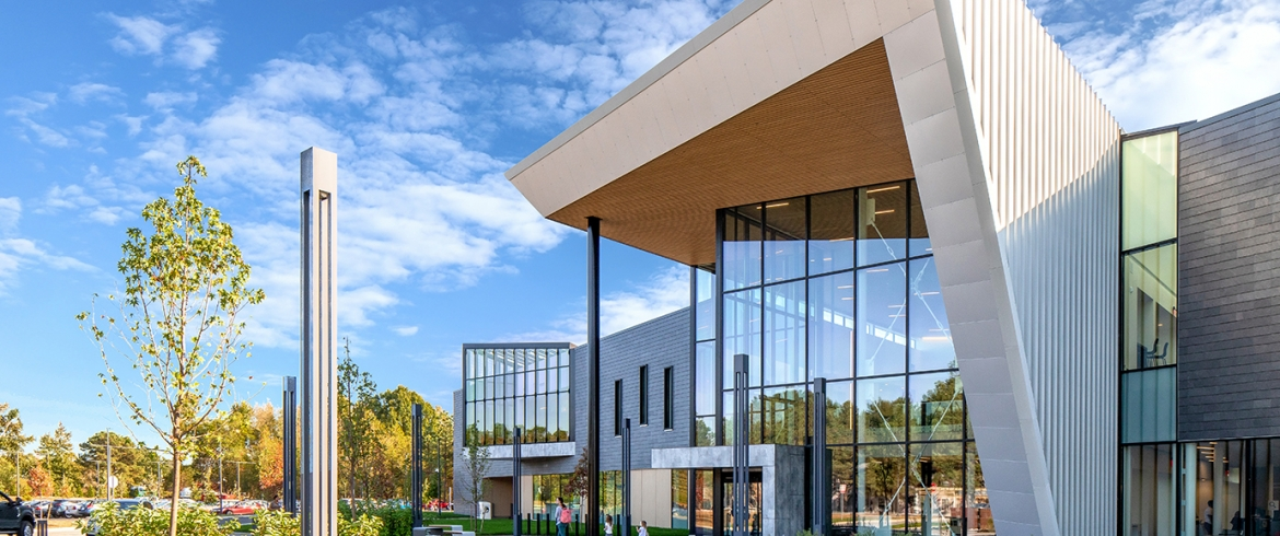 Fairfield County Library ECO Cladding Vci Wall Brackets for ACM