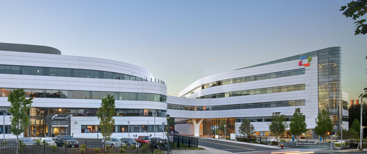 Eco Cladding ACM System used on Hartford Hospital Bone & Joint Institute / Hartford, CT