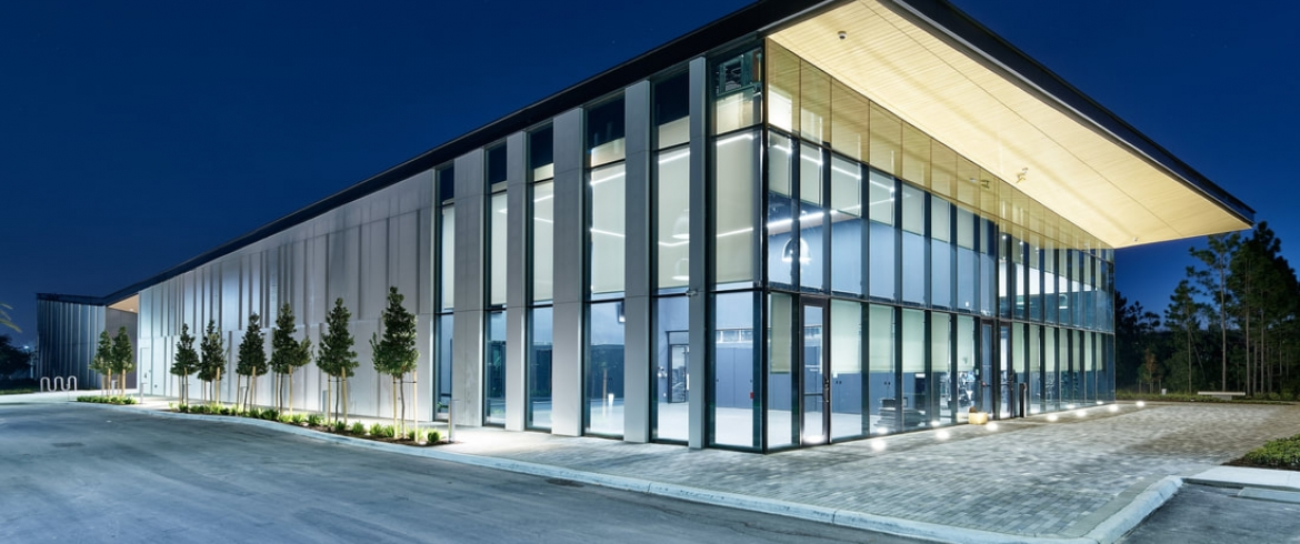 Eco Cladding Fiber Cement System used on Human Performance Institute / Orlando, FL