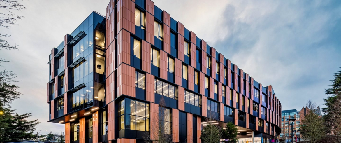 ECO Cladding Terracotta System was used on the University of Washington Gates Center in Seattle, WA