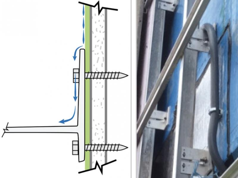 ECO Alpha Wall Brackets Prevent Air Bariier Breach Figure Detail