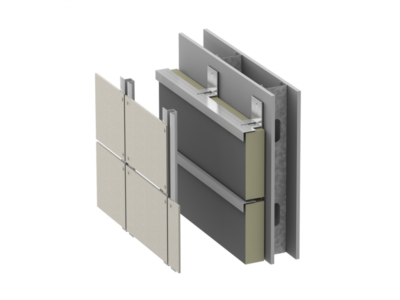 ECO Cladding Wall Section